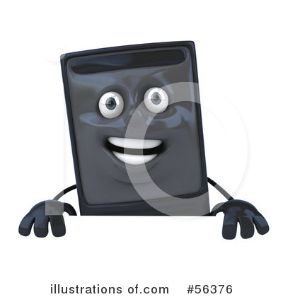 Computer Tower Character Clipart #56376 by Julos