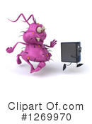 Royalty-Free (RF) Computer Virus Clipart Illustration #1269970