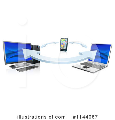 Laptop Clipart #1144067 by AtStockIllustration