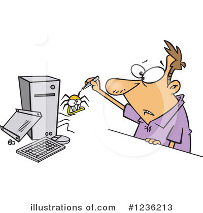 Computer Virus Clipart #1236213 by toonaday