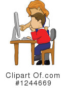 Computers Clipart #1244669 by David Rey
