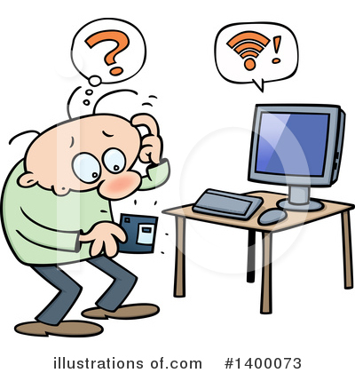 Desktop Computer Clipart #1400073 by gnurf