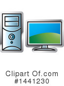 Computers Clipart #1441230 by Lal Perera