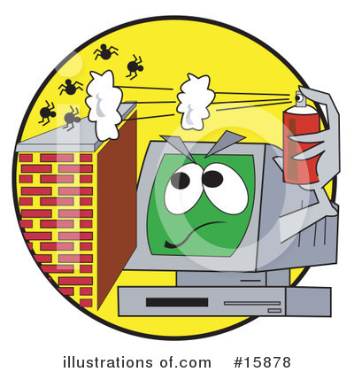 Computer Virus Clipart #15878 by Andy Nortnik