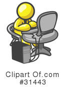 Computers Clipart #31443 by Leo Blanchette