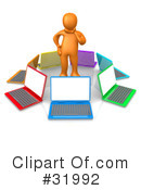 Royalty-Free (RF) Computers Clipart Illustration #31992
