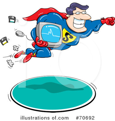 Royalty-Free (RF) Computers Clipart Illustration by jtoons - Stock Sample #70692
