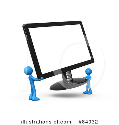 Royalty-Free (RF) Computers Clipart Illustration by 3poD - Stock Sample #84032