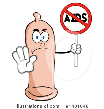 Royalty-Free (RF) Condom Mascot Clipart Illustration by Hit Toon - Stock Sample #1401048