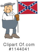 Royalty-Free (RF) Confederate Flag Clipart Illustration #1144041