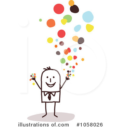 Confetti Clipart #1058026 - Illustration by NL shop