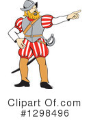 Royalty-Free (RF) Conquistador Clipart Illustration #1298496