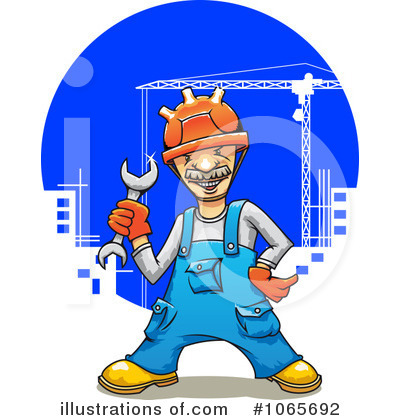 Builder Clipart #1065692 by Vector Tradition SM