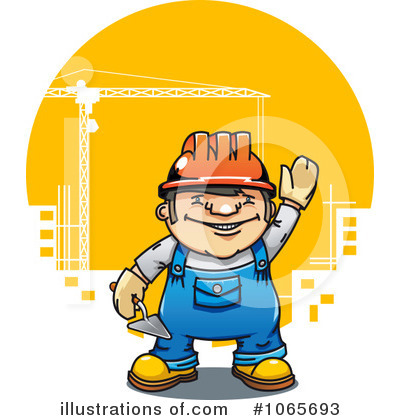 Builder Clipart #1065693 by Vector Tradition SM