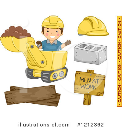 Construction Worker Clipart #1212362 by BNP Design Studio
