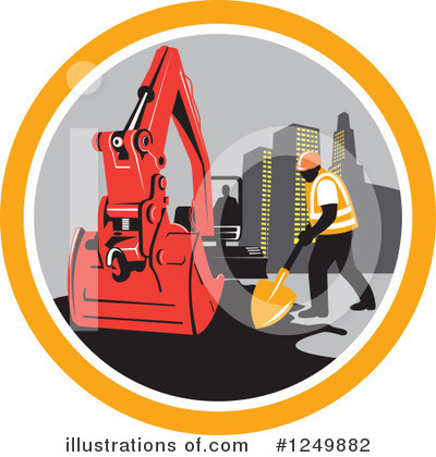 Royalty-Free (RF) Construction Clipart Illustration by patrimonio - Stock Sample #1249882