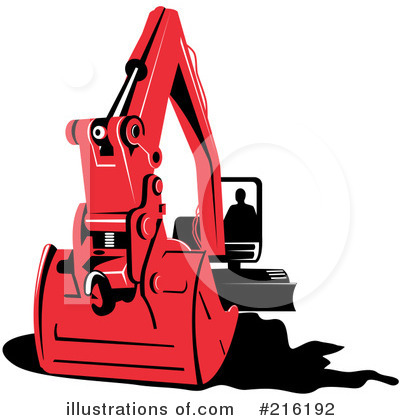 Bulldozer Clipart #216192 by patrimonio