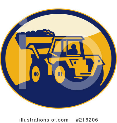 Bulldozer Clipart #216206 by patrimonio