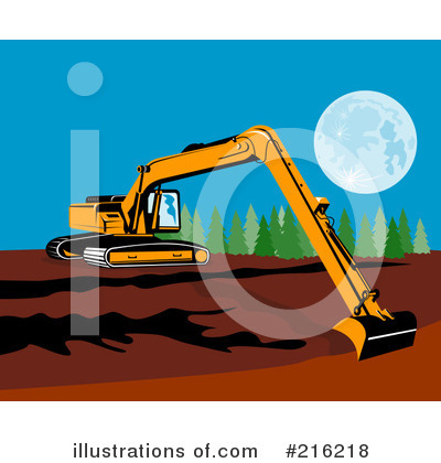 Bulldozer Clipart #216218 by patrimonio