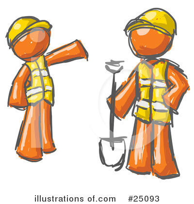 Royalty-Free (RF) Construction Clipart Illustration by Leo Blanchette - Stock Sample #25093