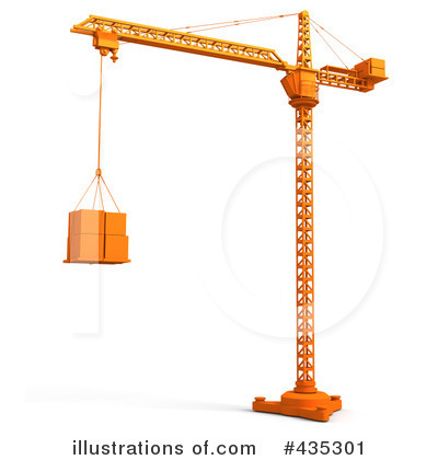 Royalty-Free (RF) Construction Crane Clipart Illustration by Tonis Pan - Stock Sample #435301