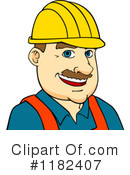 Royalty-Free (RF) construction worker Clipart Illustration #1182407