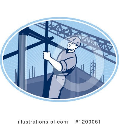 Royalty-Free (RF) Construction Worker Clipart Illustration by patrimonio - Stock Sample #1200061