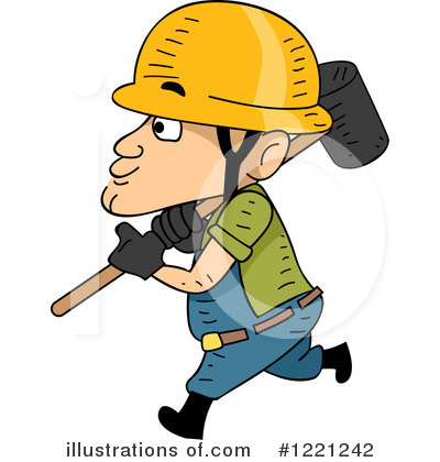 Construction Worker Clipart #1221242 by BNP Design Studio