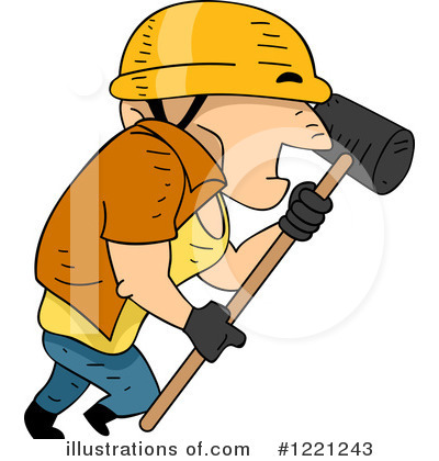 Construction Worker Clipart #1221243 by BNP Design Studio
