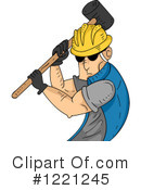 Royalty-Free (RF) Construction Worker Clipart Illustration #1221245