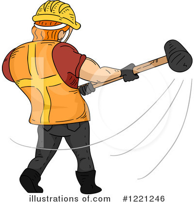 Construction Worker Clipart #1221246 by BNP Design Studio