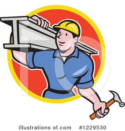 Construction Worker Clipart #1229530 by patrimonio