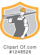 Construction Worker Clipart #1248528 by patrimonio