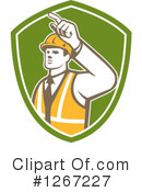 Construction Worker Clipart #1267227 by patrimonio
