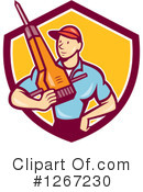 Construction Worker Clipart #1267230 by patrimonio