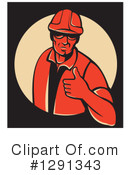 Construction Worker Clipart #1291343 by patrimonio