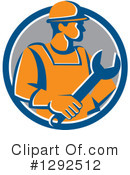 Construction Worker Clipart #1292512 by patrimonio