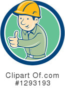 Construction Worker Clipart #1293193 by patrimonio