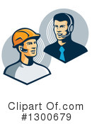 Construction Worker Clipart #1300679 by patrimonio