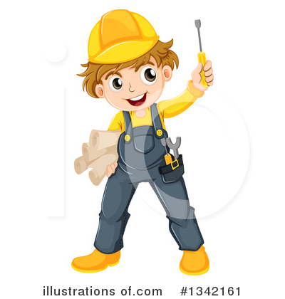 Builder Clipart #1342161 by Graphics RF