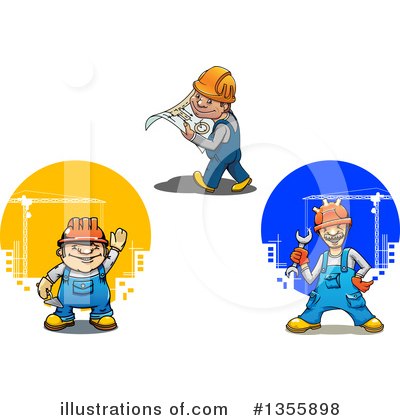 Builder Clipart #1355898 by Vector Tradition SM