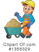 Construction Worker Clipart #1356329 by visekart
