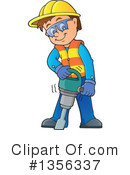 Construction Worker Clipart #1356337 by visekart