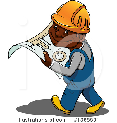 Builder Clipart #1365501 by Vector Tradition SM