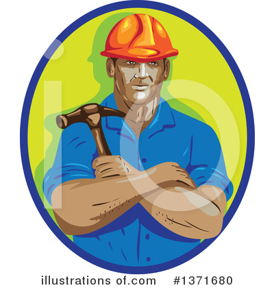 Builder Clipart #1371680 by patrimonio