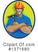 Construction Worker Clipart #1371680 by patrimonio