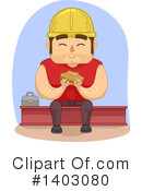 Royalty-Free (RF) Construction Worker Clipart Illustration #1403080