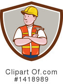 Construction Worker Clipart #1418989 by patrimonio
