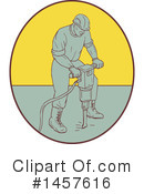 Construction Worker Clipart #1457616 by patrimonio