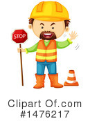 Royalty-Free (RF) Construction Worker Clipart Illustration #1476217